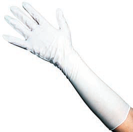 Protective Gloves, White, 40cm Length